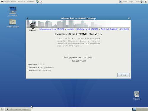 GNOME 2.30 è il desktop environment di gNewSense 3.1