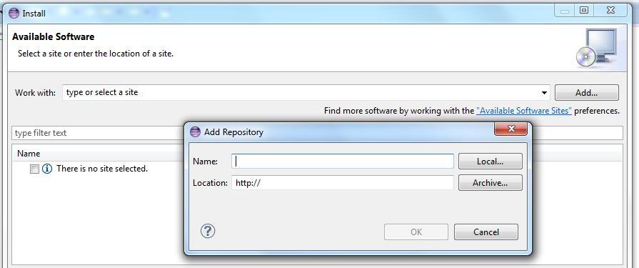 Individuazione del repository