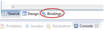 Nuova scheda Bindings