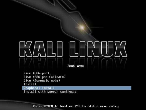 kali Linux installazione