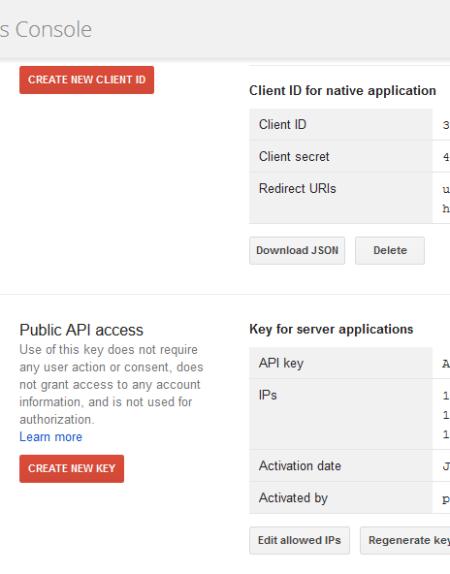 Client e Key IDs