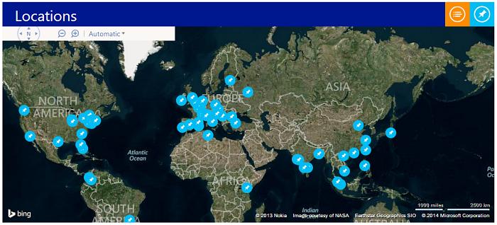 I luoghi in cui si svolge //Publish/, l'hackhaton mondiale di Microsoft
