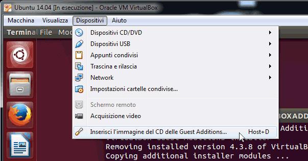 Installazione delle Guest Additions su Ubuntu 14.04