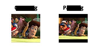 Esempio di cropping e padding