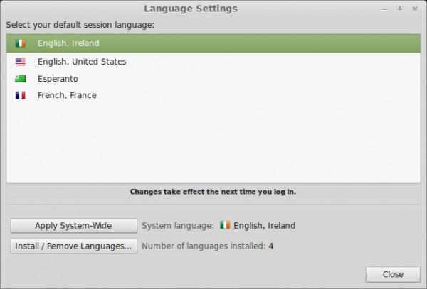 L'interfaccia del nuovo tool per la gestione delle lingue