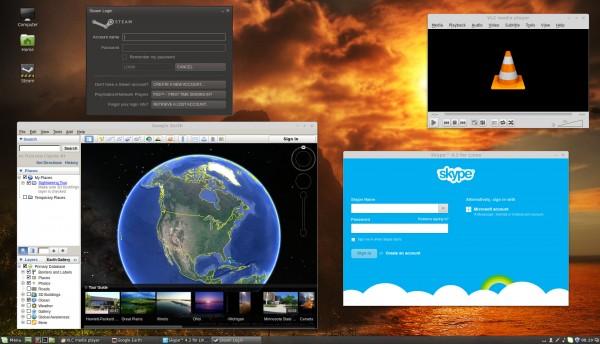 Alcune applicazioni sul desktop di Linux Mint 17 Cinnamon