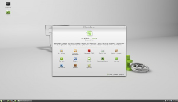 Il desktop di Cinnamon 2.2 su Linux Mint 17