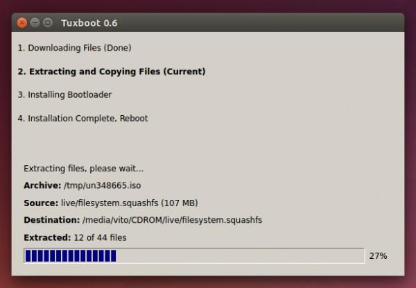 Scrittura di Clonezilla Live su un pendrive USB tramite Tuxboot