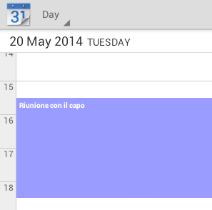 Calendario Content Provider