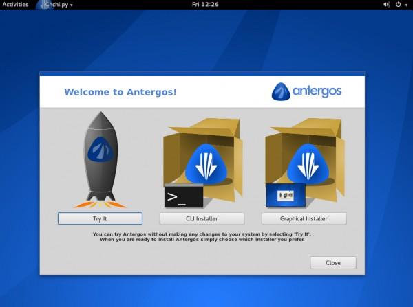 Installazione di Antergos: è disponibile anche un installer grafico