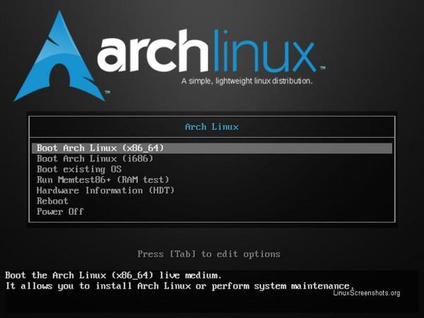 Il boot loader di Arch Linux