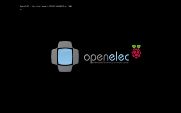 Avvio di OpenELEC su Raspberry Pi