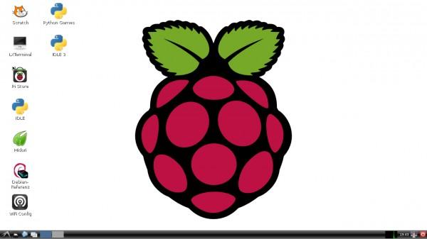 Il desktop di Raspbian