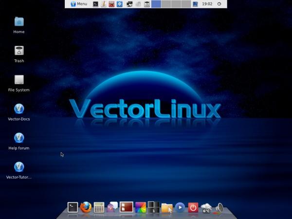 Il desktop di VectorLinux