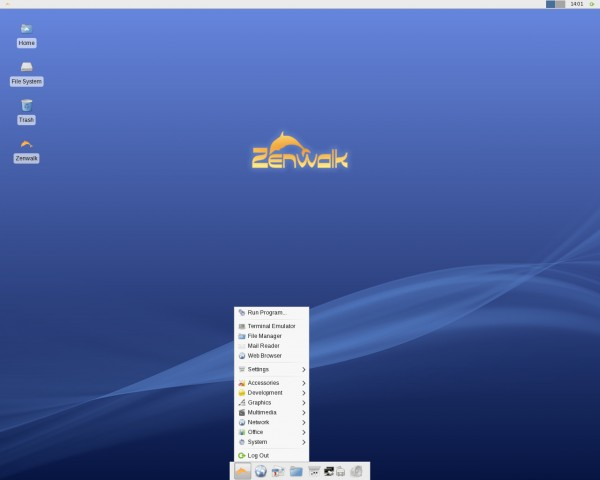 Il desktop di Zenwalk Linux