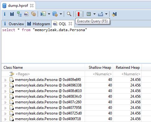 OQL esecuzione di una query
