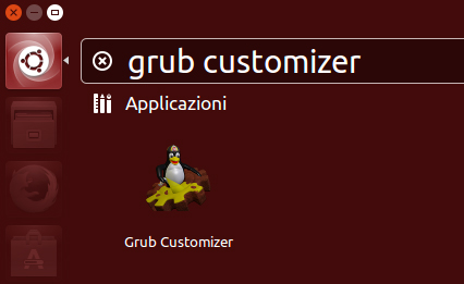 L'icona di GRUB Customizer dopo l'installazione su Ubuntu