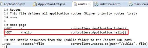 Modifica del file routes