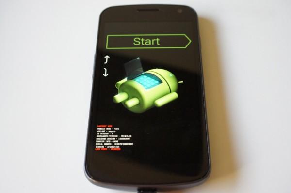 La schermata del bootloader di Android