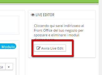 Avvio del Live Edit