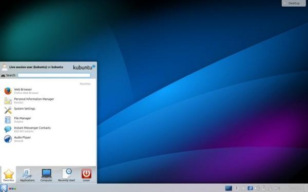 Il desktop di Kubuntu 14.10