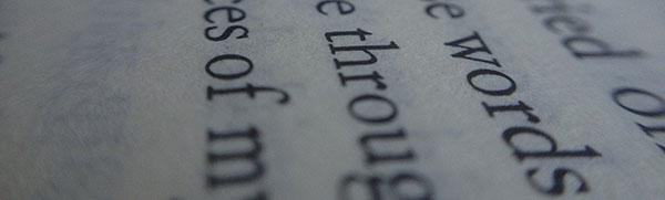 Serif su carta stampata