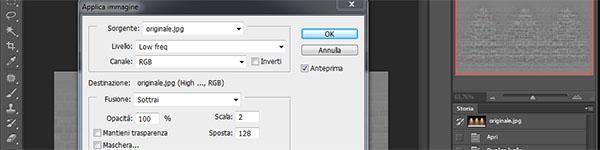 Impostazioni per immagini a 8 bit