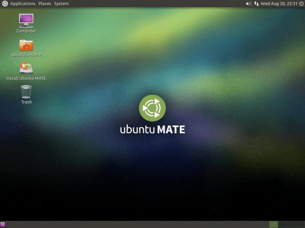 Il desktop di Ubuntu MATE 14.10