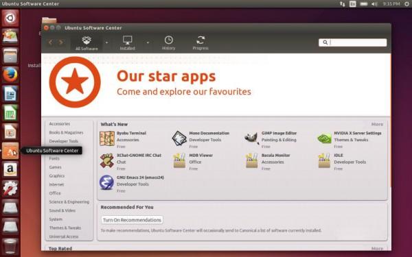 L'interfaccia di Ubuntu Software Center