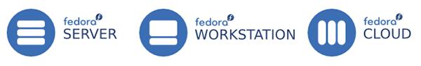 Le tre diverse edizioni di Fedora 21 sulla pagina di download