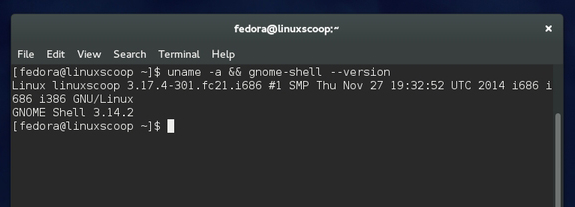 Fedora 21 è basata sul kernel Linux 3.17