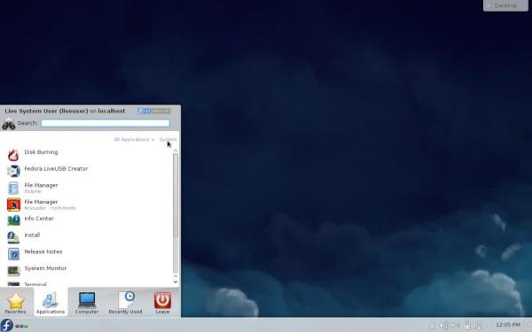 Il desktop di Fedora 21 KDE