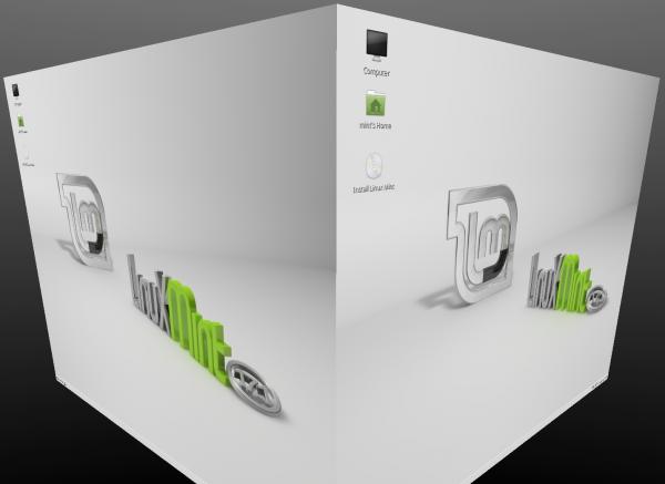 Gli effetti 3D di Compiz su Linux Mint 17.1 MATE Edition
