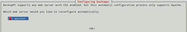 Selezione del web server in fase di installazione