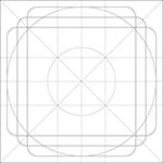 Griglia di riferimento per le icone del Material Design