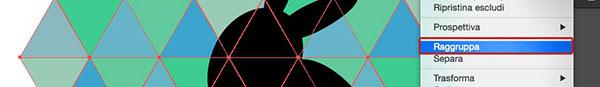 Raggruppamento oggetti triangolari