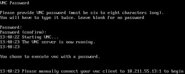 Configurazione del server VNC di CentOS