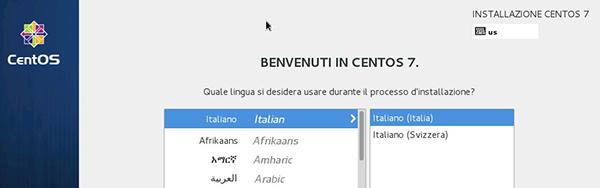 Installer grafico di CentOS (via VNC)