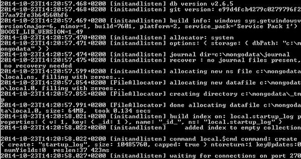 MongoDB server avviato