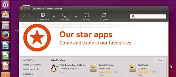 Ubuntu Software Center 13.10 sul desktop di Ubuntu 15.04