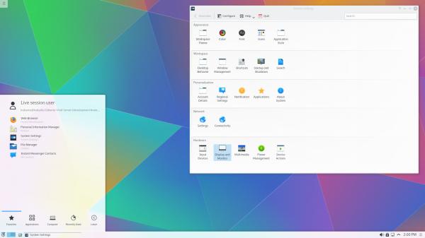 Il desktop di Kubuntu 15.04