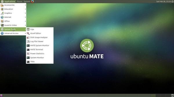 Il desktop di Ubuntu MATE 15.04