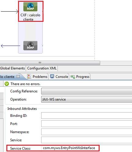 Aggiunta dell'interfaccia al Web service
