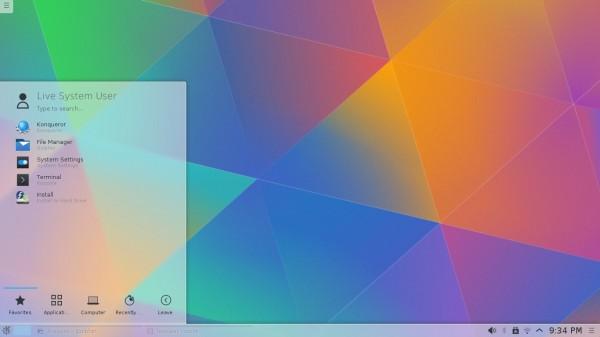 Il desktop di Fedora 22 KDE Spin