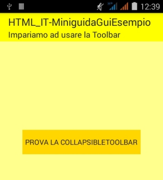 Toolbar semplice nella prima Activity