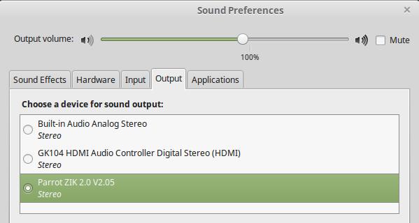 Schermata delle preferenze Audio su Linux Mint 17.2 MATE