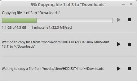 I trasferimenti di file sono ora sequenziali