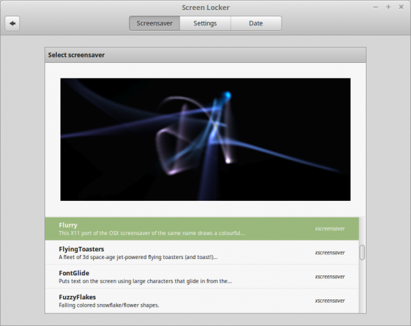 XScreenSaver e gli screen saver HTML5 sono ora supportati su Linux Mint 17.2
