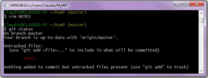 Rilevazione di un file non tracciato